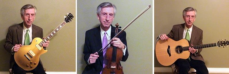 Geeb Johnston - Guitar, violin, bass lessons